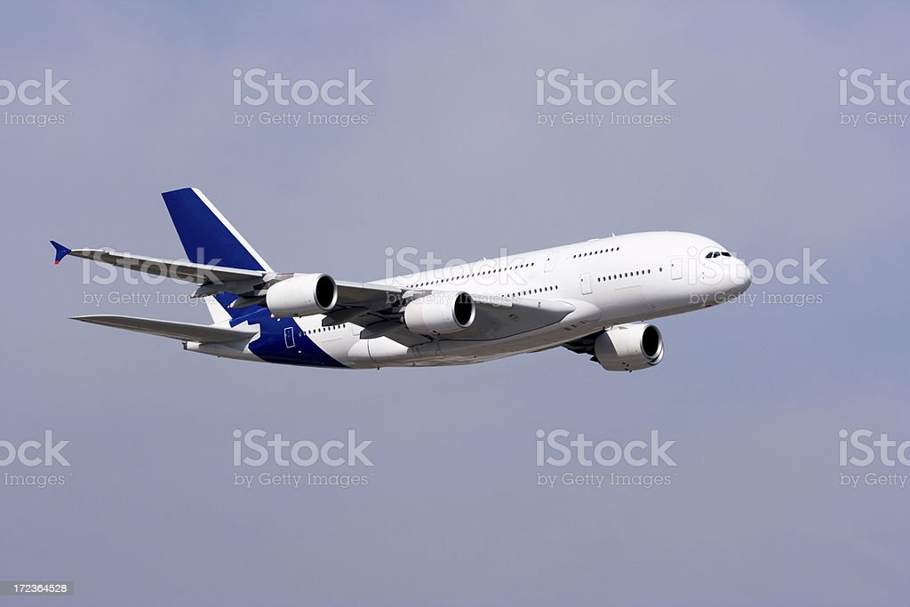 Picture of an airplane during flight royalty-free stock photo