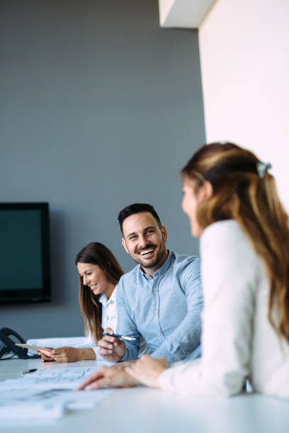Picture of architects on business meeting in office stock photo