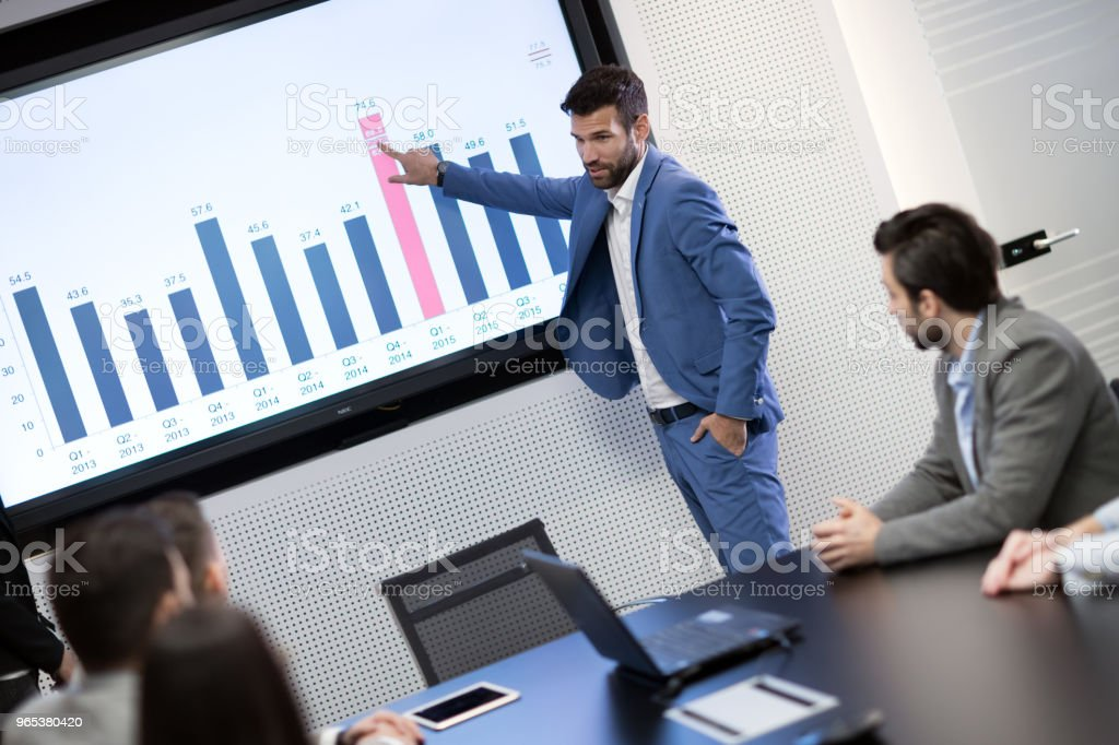 Picture of business meeting in conference room royalty-free stock photo