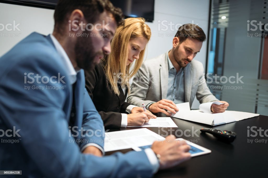 Picture of business people discussing in office royalty-free stock photo