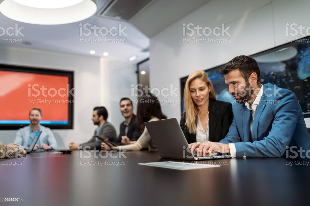 Picture of business people discussing on meeting royalty-free stock photo