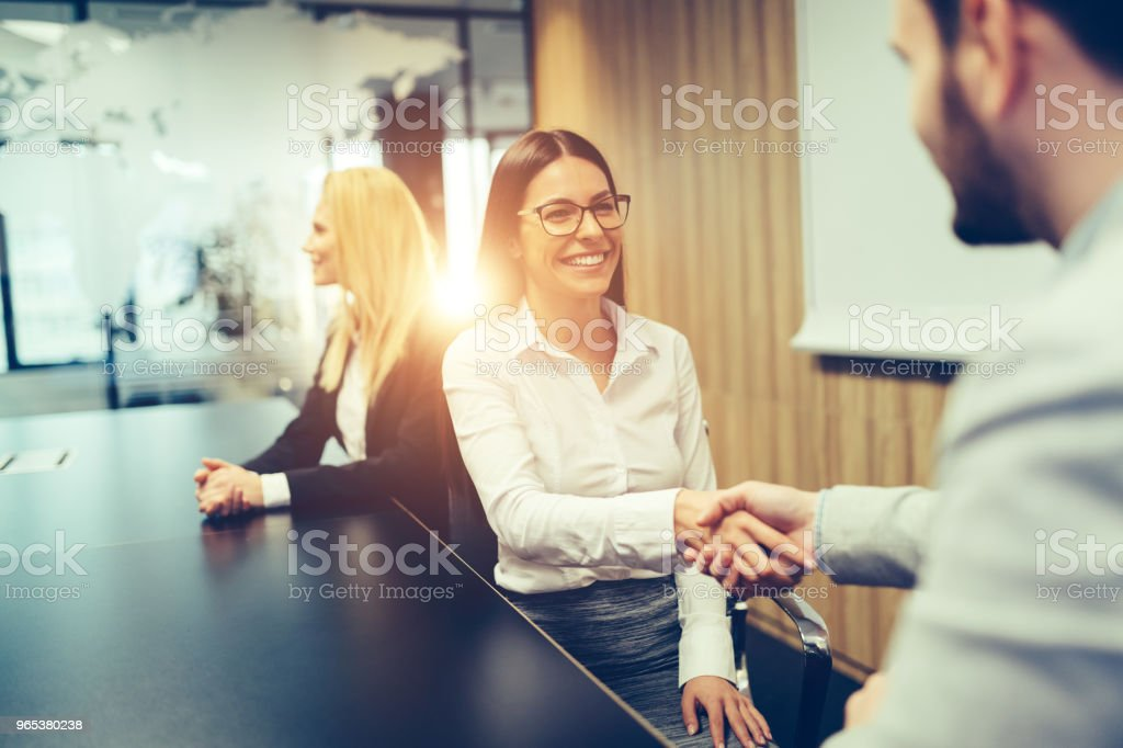 Picture of business people discussing on meeting zbiór zdjęć royalty-free