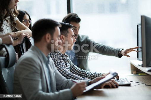 Picture of business people working together in office company