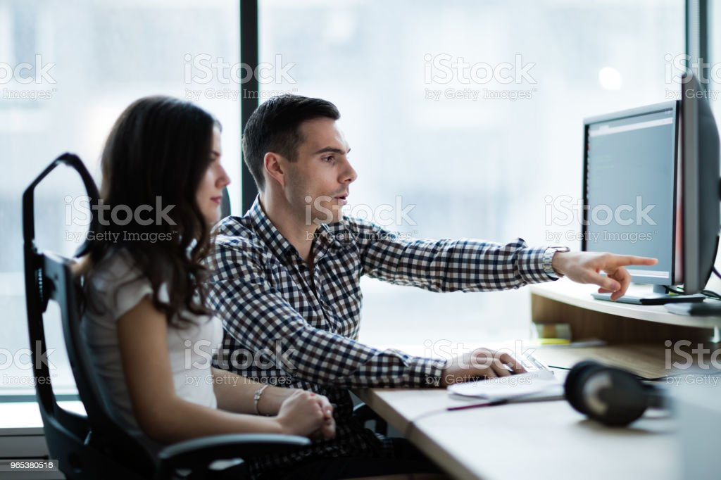 Picture of business people working together in office royalty-free stock photo