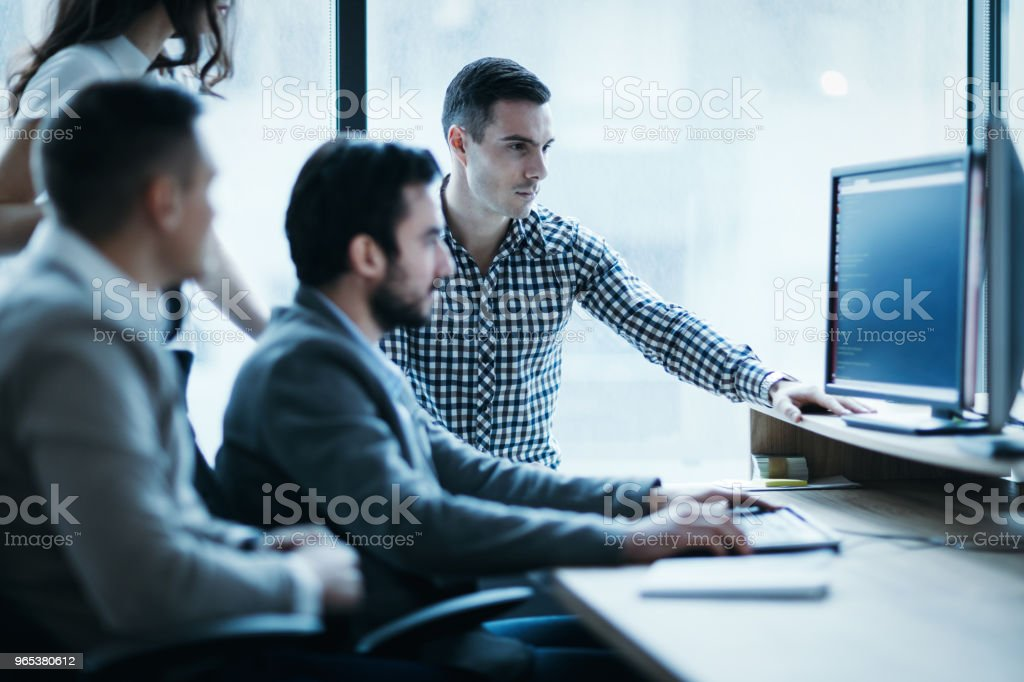 Picture of business people working together in office zbiór zdjęć royalty-free