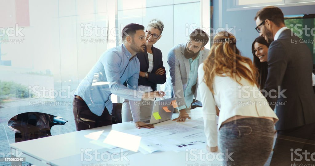 Picture of businesspeople having meeting in conference room Picture of people having business meeting in conference room Adult Stock Photo