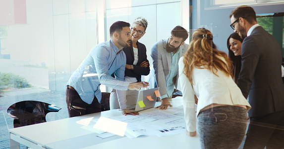 Picture Of Businesspeople Having Meeting In Conference Room Stock Photo - Download Image Now