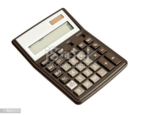 istock Picture of calculator. Isolated on white background 178592224