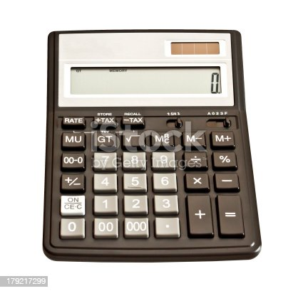 istock Picture of calculator. Isolated on white background 179217299