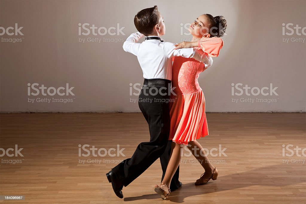 A picture of children ball room dancing stock photo