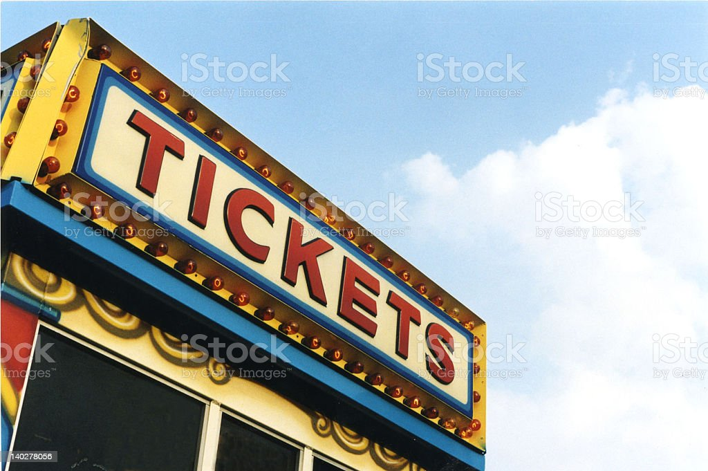 A picture of classical fun fair ticket box stock photo