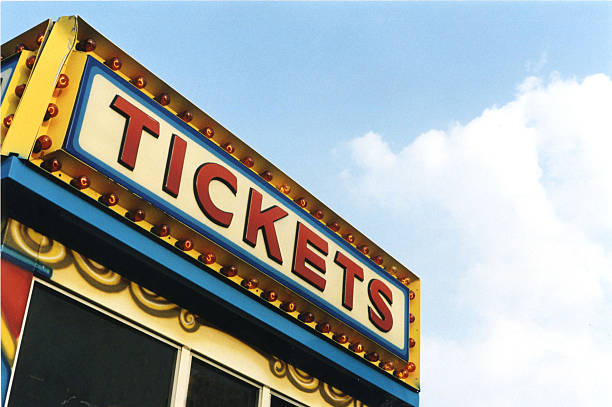 A picture of classical fun fair ticket box Ticket booth in an amusement park. admit stock pictures, royalty-free photos & images