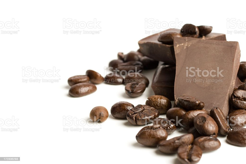 A picture of coffee beans for a Mocha coffee  royalty-free stock photo