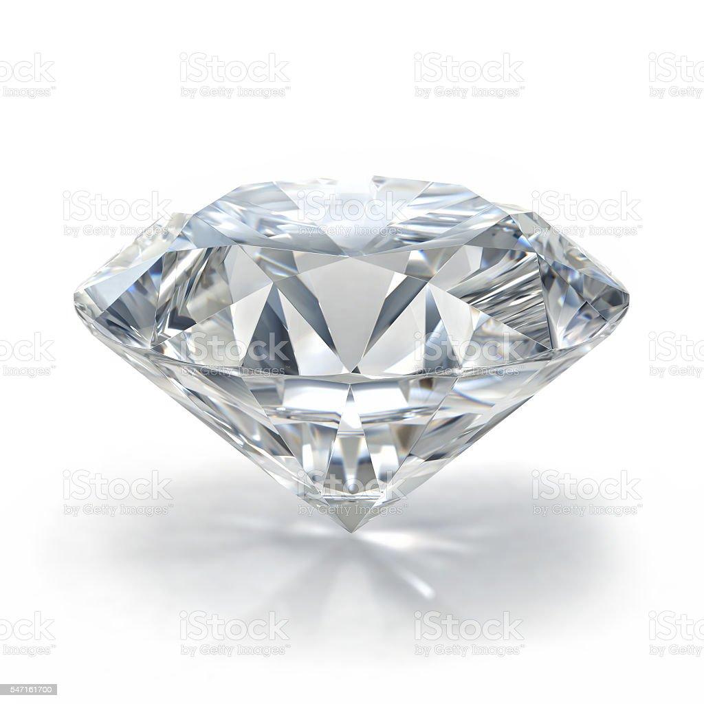 Picture of diamond. Beautiful sparkling shining round shape emerald image. stock photo