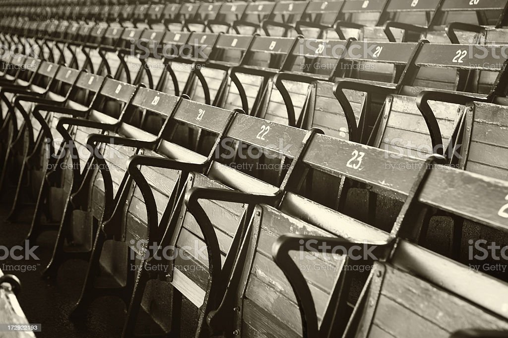 A picture of empty stadium seats royalty-free stock photo