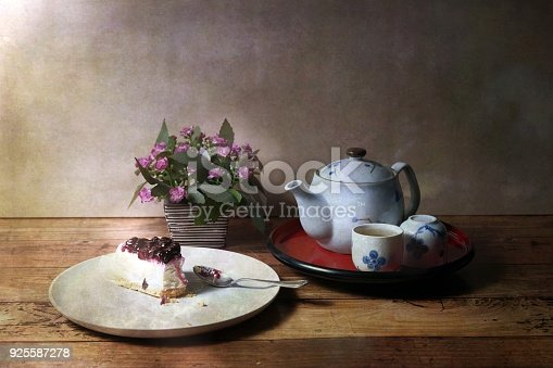 istock Picture of food set of Tea time vintage style 925587278