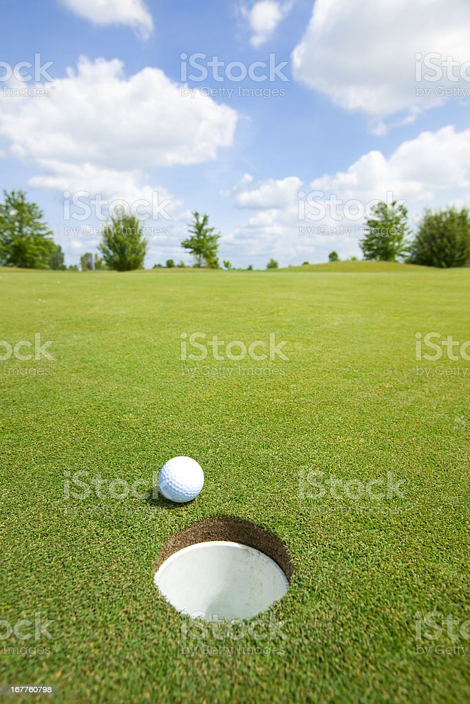 Picture of golf ball stock photo
