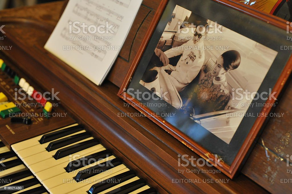 Picture of His Majesty the King and Queen of Thailand stock photo