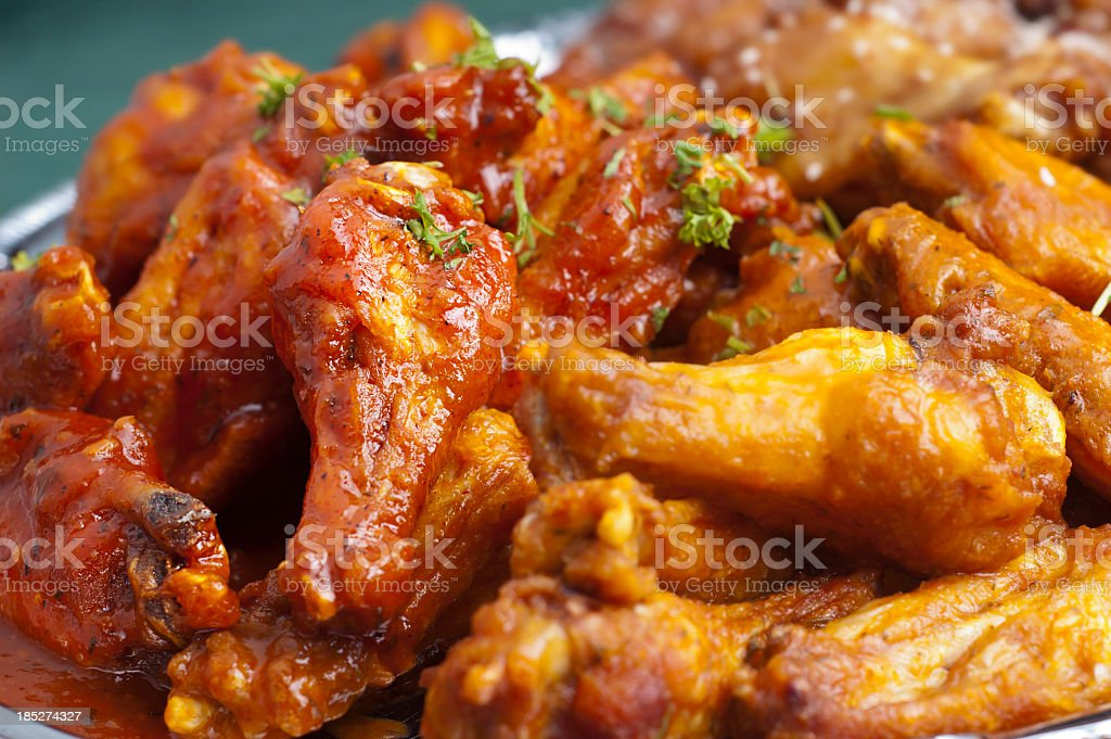 Picture of hot spicy Buffalo wings stock photo