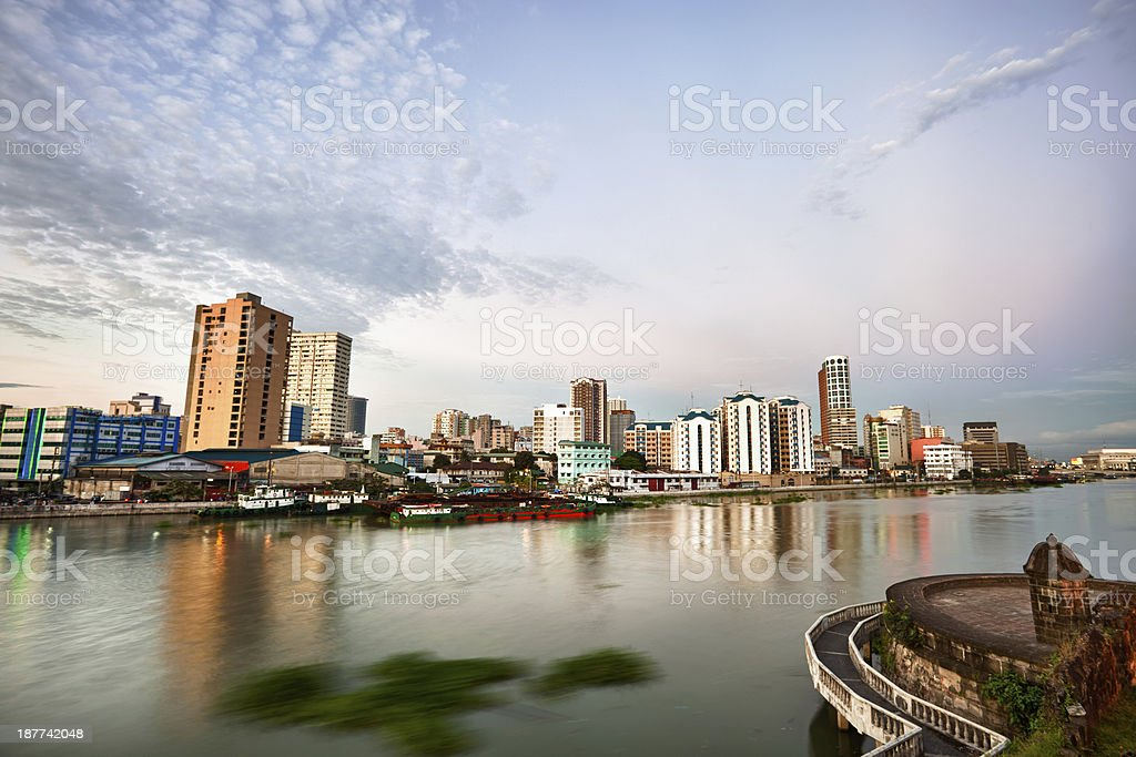 Picture of Manila skyline at dusk royalty-free stock photo