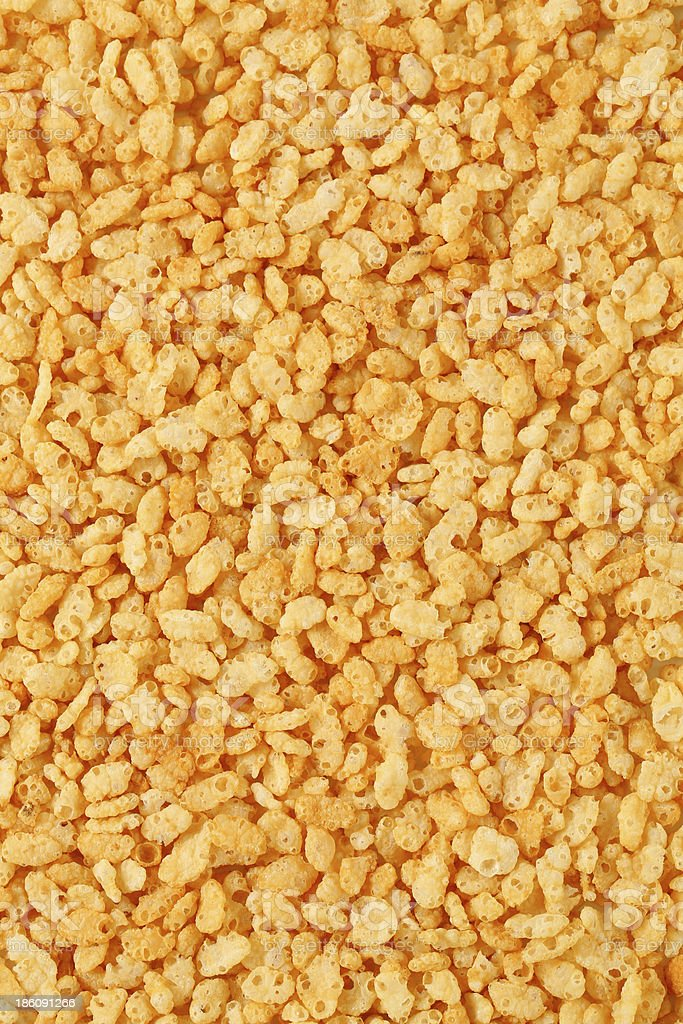 A picture of many pieces of rice cereal stock photo
