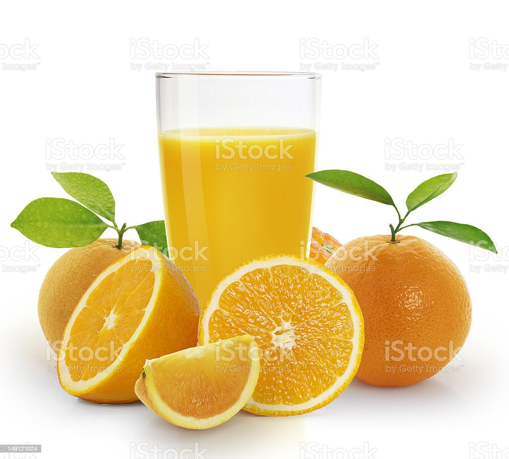 Picture of orange juice with fruit royalty-free stock photo