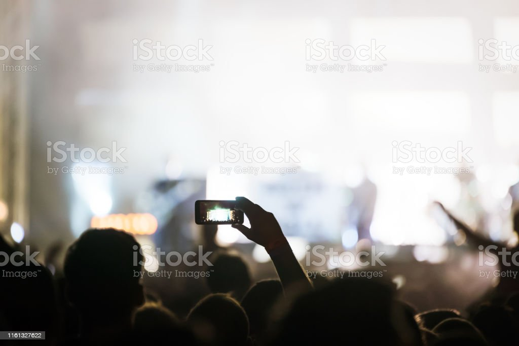 Picture of party dancing people at music festival