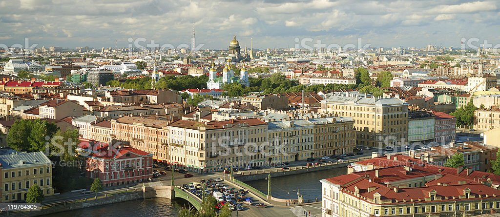 Picture of Saint Petersburg city skyline stock photo