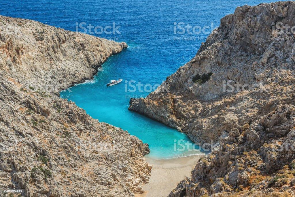 Picture of Seitan limania or Stefanou beach, Crete. stock photo