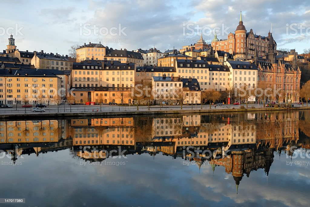 A picture of Stockholm on the waterfront stock photo