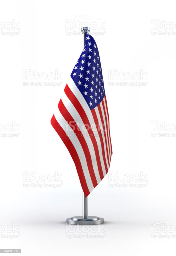 A picture of the American flag royalty-free stock photo