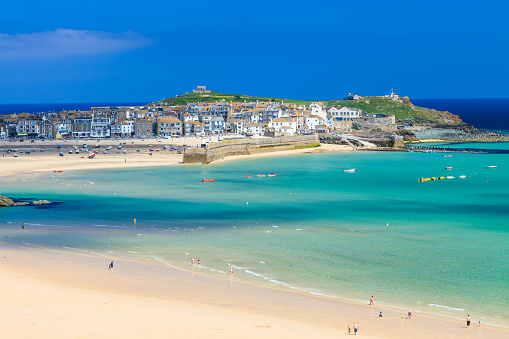 Picture of the beach in St Ives Cornwall England