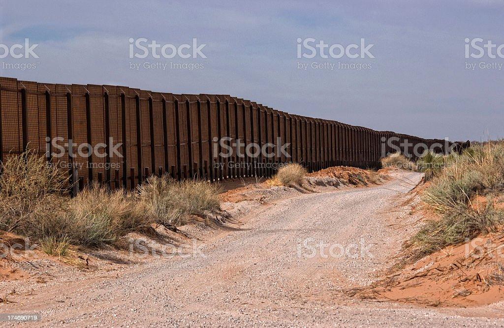 Fronteira muro-Novo México - foto de acervo