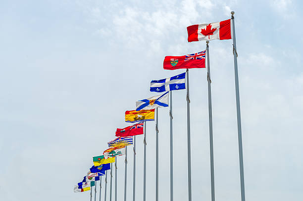 Picture of the canadian Flags stock photo