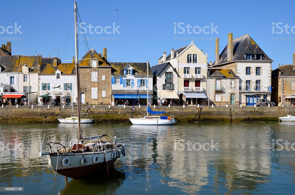 A picture of the Port of ale Croisic in France stock photo