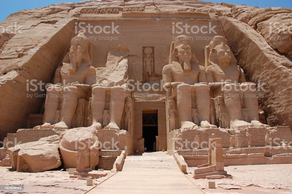 A picture of the statues at Abu Simbel stock photo