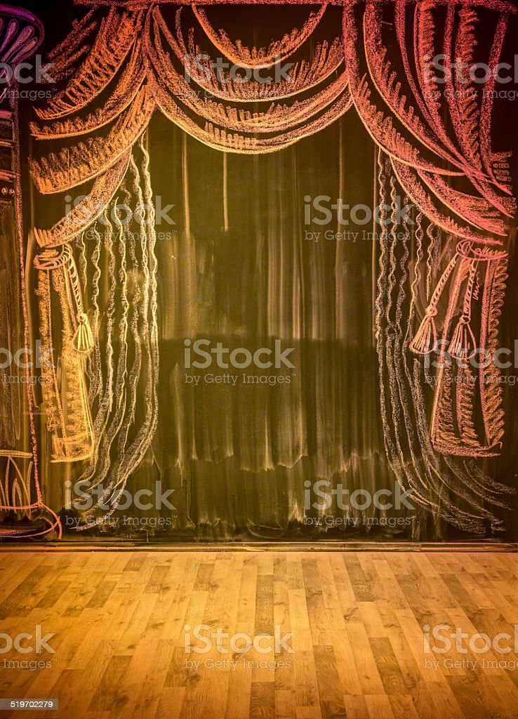 Picture of theatrical stage stock photo