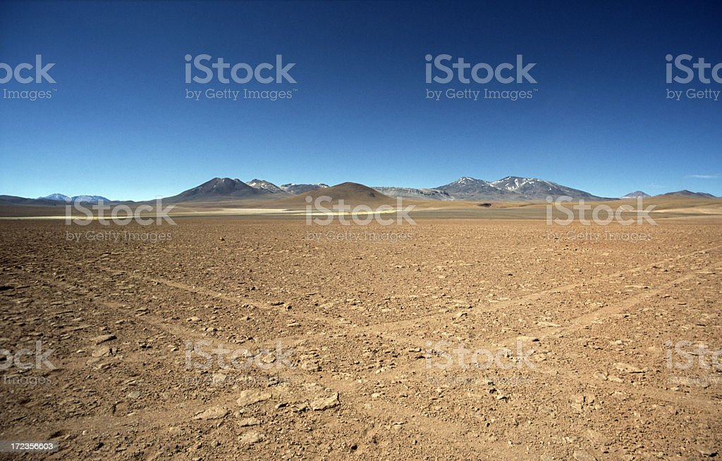 A picture of two crossroads in the sand royalty-free stock photo