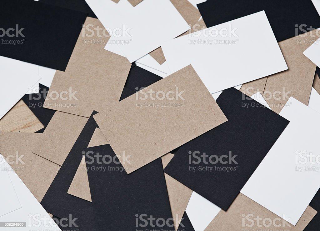Bild Von Weiß Schwarz Und Handwerk Visitenkarten Auf Holz Stockfoto Und Mehr Bilder Von Bildhintergrund