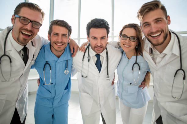 picture of young team or group of doctors stock photo