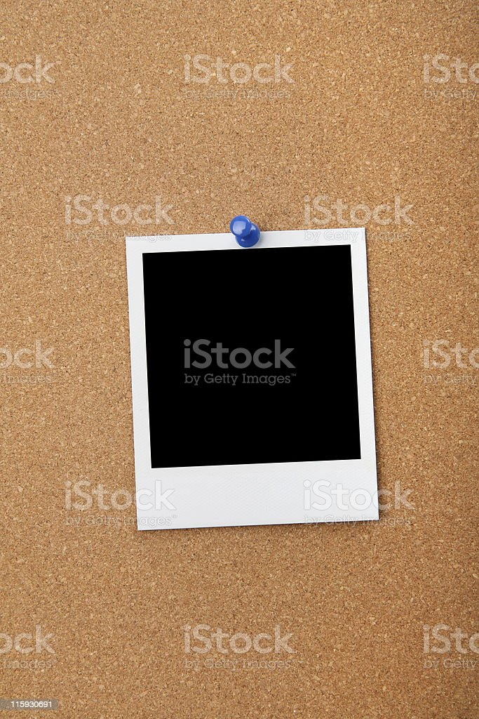 Picture on Cork Board royalty-free stock photo