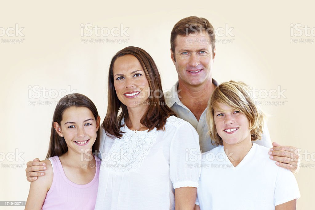 Picture perfect family royalty-free stock photo