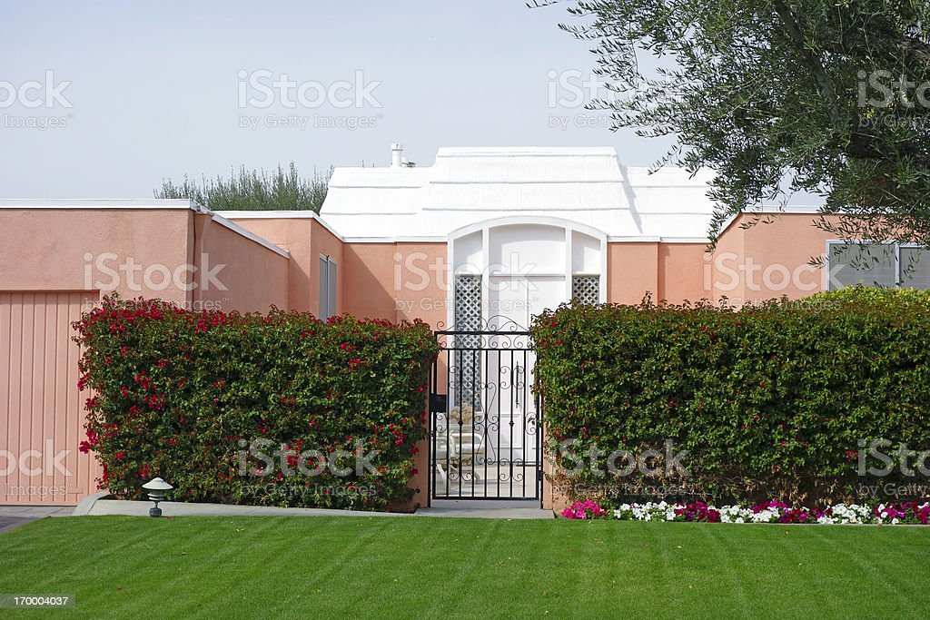 Picture Perfect Townhouse Exterior stock photo
