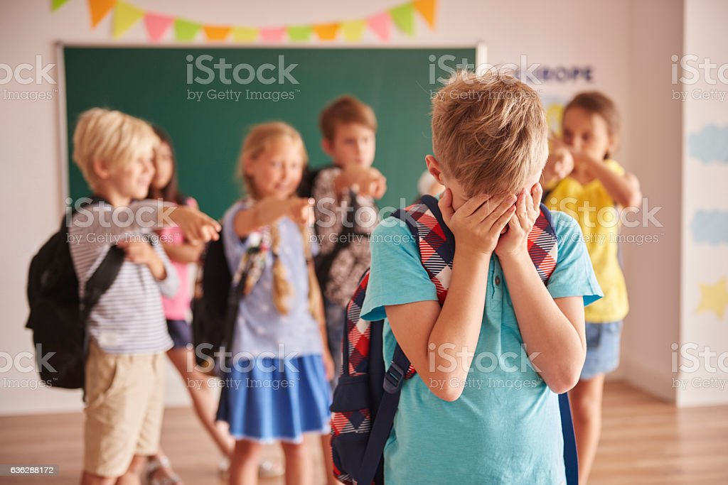 Picture showing children violence  at school - foto de stock