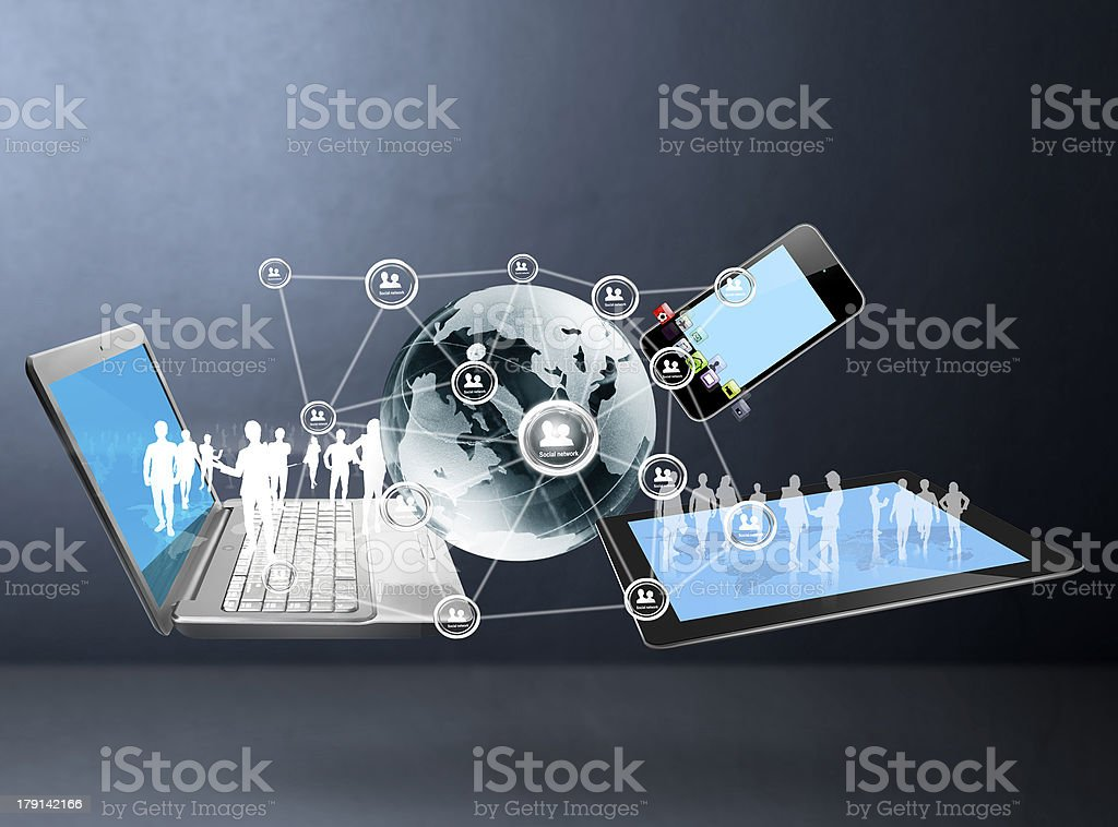 A picture symbolizing a social network structure stock photo