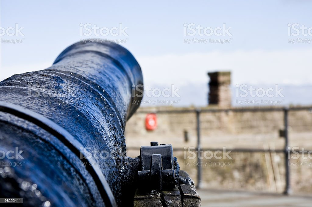 Picture taken Whitehaven Harbour Cannons royalty-free stock photo