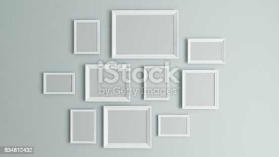 istock picture white border frame 3D rendering 834812432