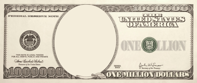 Create your special Million Dollar Bill for any occasion or purpose.Add your own logo or photography.ALSO: