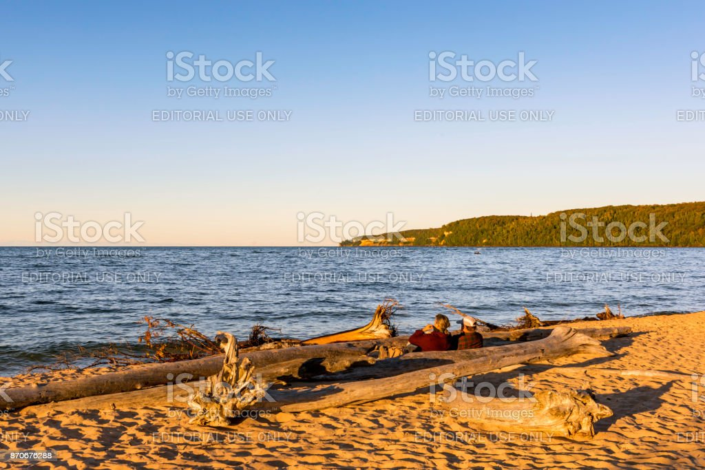 Pictured Rock In Upper Michigan stock photo