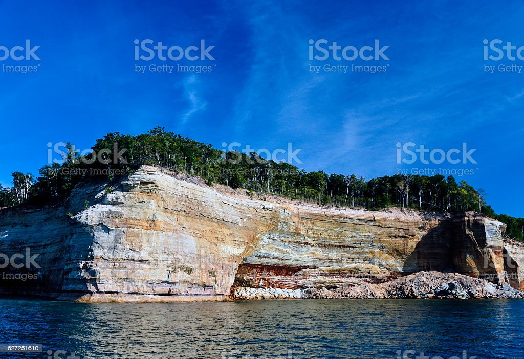 Pictured Rocks 3 stock photo